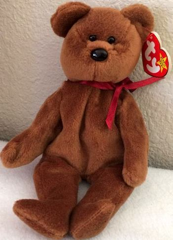 1993 Ty Beanie Baby TEDDY THE BEAR - New With Tags