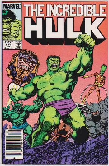 1985 The Incredible Hulk #314 Issue - Marvel Comics