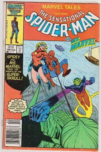 1987 The Sensational Spider-Man #196 Issue - Marvel Comics