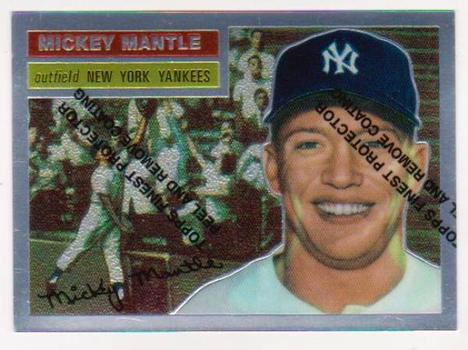 Mickey Mantle 1956 Topps #135 Commemorative Card - 1996 Topps Finest #6 of 19 Insert Card