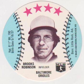 1976 Isaly's Disc Brooks Robinson Card - HOF'er