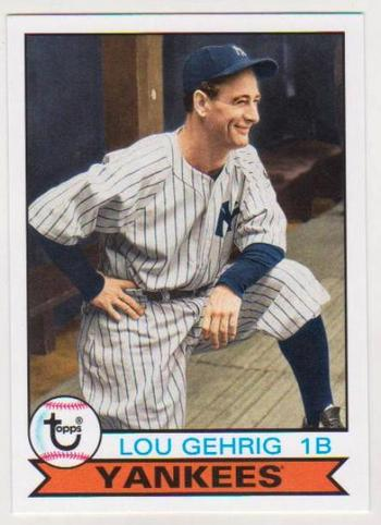 2016 Topps Archives Lou Gehrig #190 Card