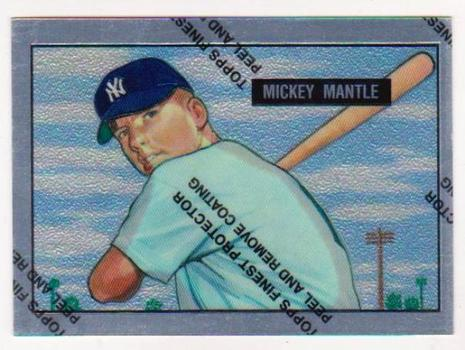 Mickey Mantle 1951 Bowman #253 Commemorative Card - 1996 Topps Finest #1 of 19 Insert Card