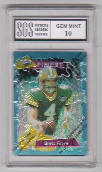 Graded Gem Mint 10 - Brett Favre 1995 Topps Finest #56 Card