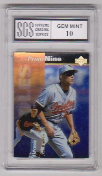 Graded Gem Mint 10 Cal Ripken, Jr. 1998 Upper Deck Prime Nine #PN34 Insert Card