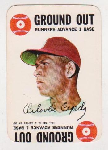 Vintage - 1968 Topps Game Orlando Cepeda Card - HOF'er
