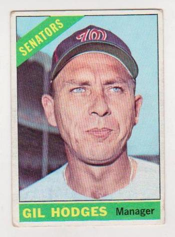 1966 Topps Gil Hodges #386 Card