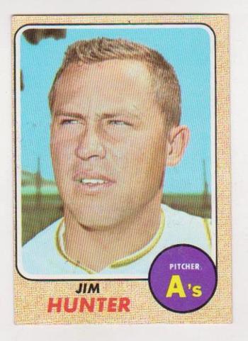 1968 Topps Jim Catfish Hunter #385 Card - HOF'er