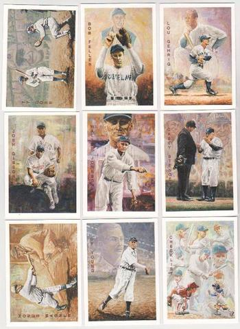 1994 Ted Williams Co. Locklear Collection 9 Card Insert Set - Lou Gehrig + More