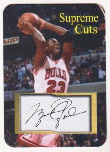 Michael Jordan Facsimile Autograph Supreme Cuts Embossed Die-Cut Card