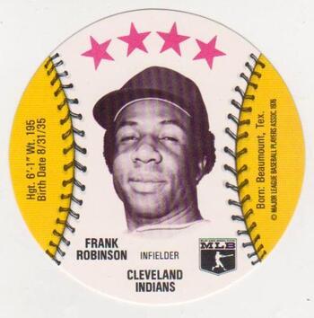 1976 Isaly's Disc Frank Robinson - High Grade!