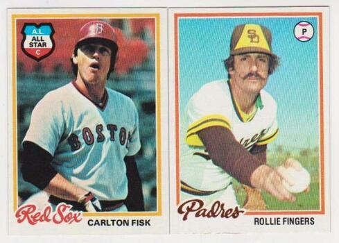 1978 Topps Carlton Fisk #270 + Rollie Fingers #140 Card - HOF'ers