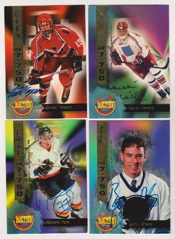 4 Different 1994 Signature Rookies Hockey Certified Autographs