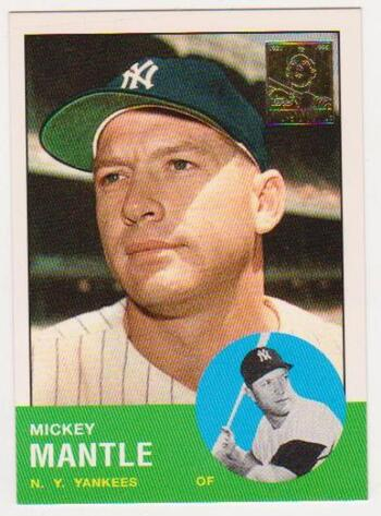 Mickey Mantle 1963 Topps #200 Commemorative Card - 1996 Topps #13 of 19 Insert Card