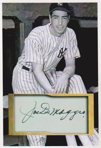 Joe DiMaggio 4x6 Photo w/ Facsimile Signature - Nice For Framing!