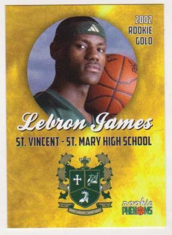 2002 Rookie Phenoms Lebron James St. Vincent - St. Mary High School Card
