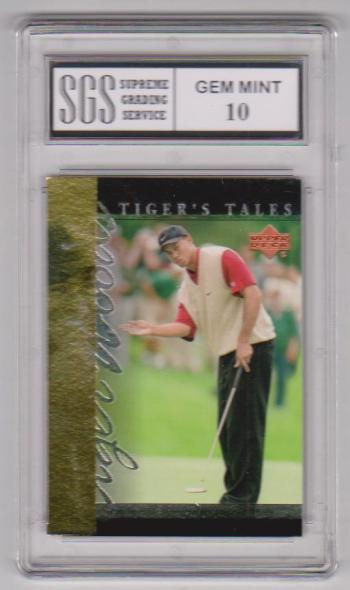 Graded Gem Mint 10 - Tiger Woods 2001 Upper Deck Tiger's Tales #TT24 Insert Card
