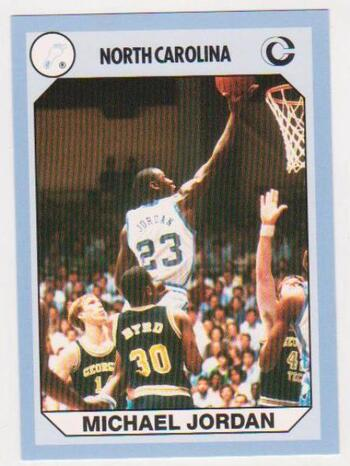Michael Jordan 1990 North Carolina #89 College Card