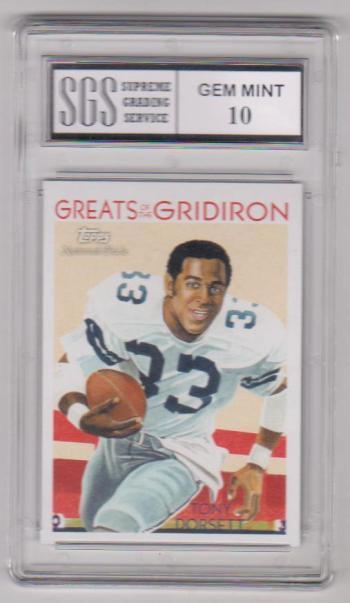 Graded Gem Mint 10 - Tony Dorsett 2009 Topps Greats Of The Gridiron #GG-10 Card