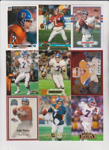Assorted John Elway Football Card Collection (1989-2000)