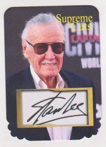 #21/75 Produced - Stan Lee Facsimile Autograph Supreme Cuts Die Cut Card - Scarce!