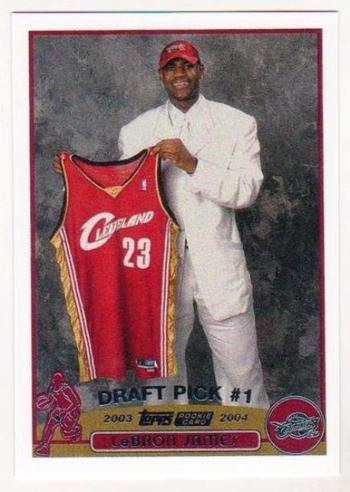 2003-04 Topps Lebron James #221 Rookie Card Reprint