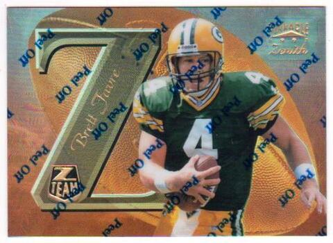 Brett Favre 1997 Zenith Z-Team Mirror Gold #ZT11 Promo Card