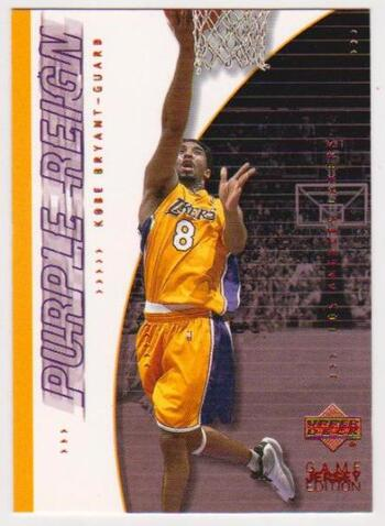 Kobe Bryant 2001 Upper Deck Game Jersey Edition #442 Card