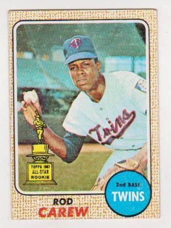 1968 Topps Rod Carew All-Star Rookie #80 Card - HOF'er