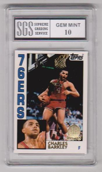 Graded Gem Mint 10 - Charles Barkley 1993 Topps Archives Gold #44 Card