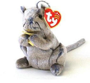 2002 Ty Beanie Baby CHEDDAR THE MOUSE - New With Tags