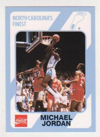 Michael Jordan 1989 North Carolina #13 College Card