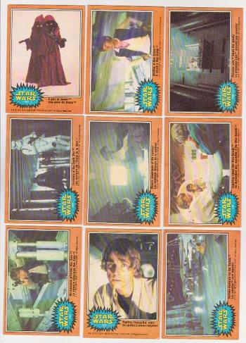 9 Different 1977 Star Wars O-Pee-Chee Trading Cards