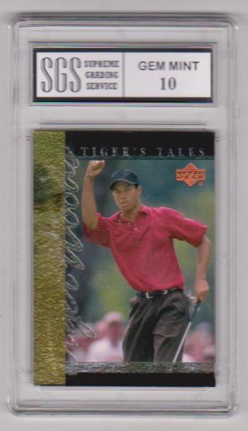 Graded Gem Mint 10 - Tiger Woods 2001 Upper Deck Tiger's Tales #TT11