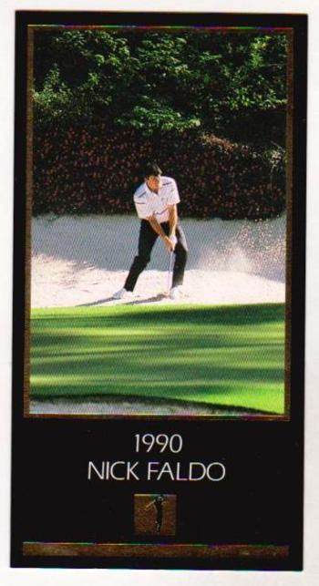 1997 Nick Faldo GOLD FOIL Grand Slam Ventures - 1990 Masters - Tough To Find