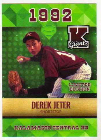 Derek Jeter 1992 Rookie Phenoms Emerald High School Rookie Card - Only 2500 Made!
