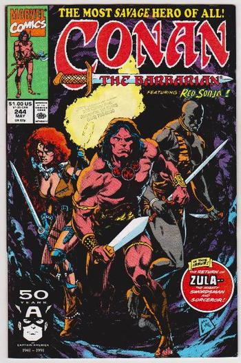 1991 Conan The Barbarian #244 Issue - Marvel Comics