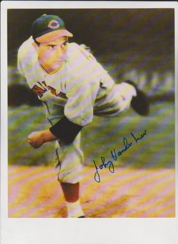 Signed - Johnny Vander Meer 8x10 Color Photo - 4 Time All-Star Autograph