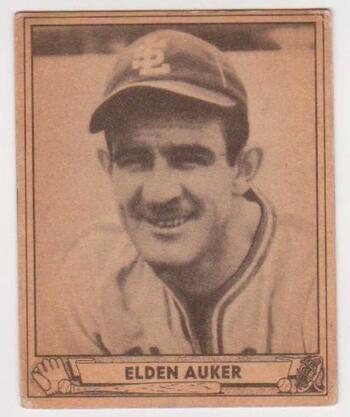 1940 Play Ball Elden Auker #139 Card - St. Louis Browns