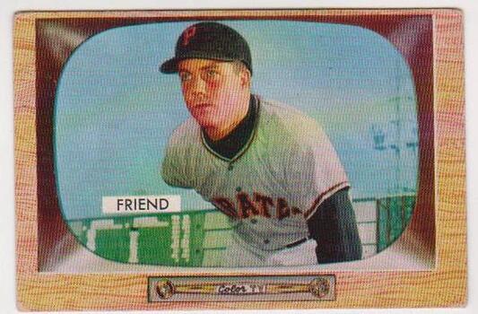 1955 Bowman Bob Friend #57 Card - Pittsburgh Pirates