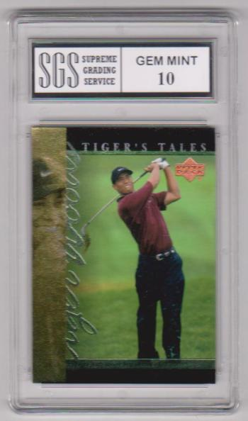 Graded Gem Mint 10 - Tiger Woods 2001 Upper Deck Tiger's Tales #TT28