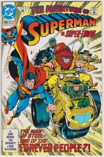 1992 DC Comics The Adventures Of Superman #495 Issue