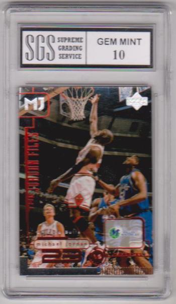 Graded Gem Mint 10 - Michael Jordan 1998 Upper Deck Living Legends #140 Card
