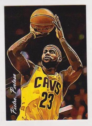#23/25 Produced - Lebron James Signed By Artist Giclee Art Print Card