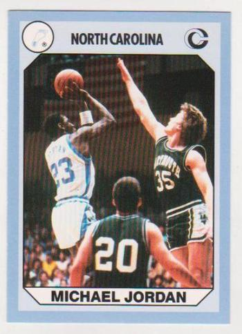 Michael Jordan 1990 North Carolina #61 College Card