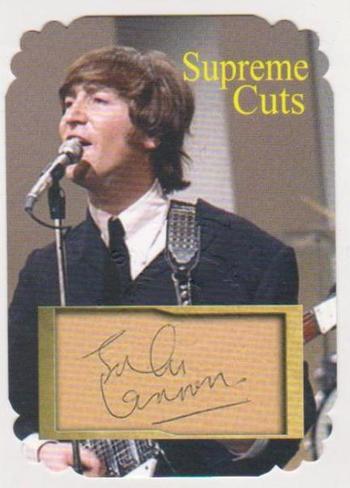 #1/25 Produced - John Lennon Facsimile Autograph Supreme Cuts Special Die Cut Card - The Beatles