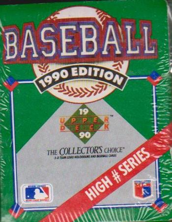 Sealed 1990 Upper Deck High # Series 100 Card Factory Set
