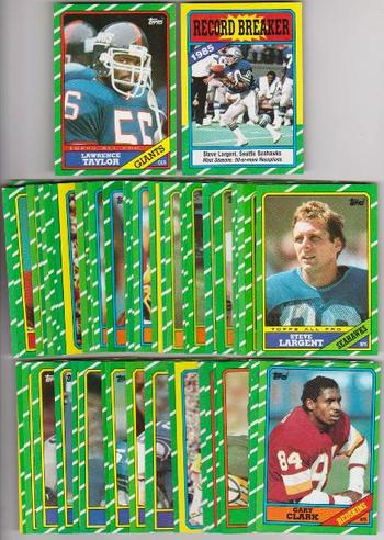 Collection of 75 1986 Topps Football Cards - Lawrence Taylor + More