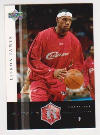 Lebron James 2004 Upper Deck Rivals #2 Card