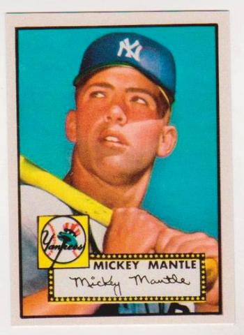1952 Topps Mickey Mantle #311 Rookie Reprint Card
